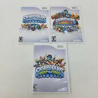 Skylanders Lot of 3 Games - Spyro's Adventure, Swap Force, Giants Nintendo Wii