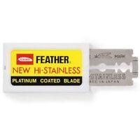 FEATHER Hi-Stainless Blades DOUBLE EDGE Safety Razor Blades Premium Safety DE UK