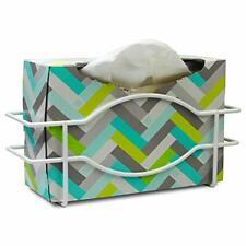 Single Wall Mount Glove Tissue Dispenser Wire Rack Disposable Gloves Box Holder