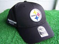 Bridgestone Golf Pittsburgh Steelers Black golf Hat Cap NFL Team Adjustable NEW