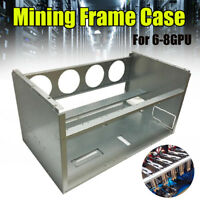 Open Air Frame Mining Miner Rig Stackable Case For 6 8 GPU ETH BTC Ethereum DIY