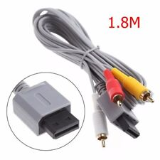 Audio Video AV Composite/Component RCA Cable Cord for Nintendo Wii Game Console