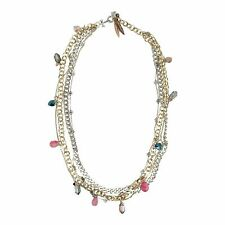 & Pink Agate Stones Stylish Necklace With Crystals
