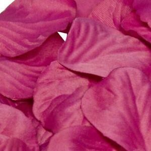 Fuchsia Pink Rose Petals Fabric Confetti (Bulk Bag of 1000 petals)