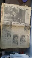 HISTORICAL Evening NEWSPAPER - End of a perfect Day - Apollo 11  JULY 21,1969.