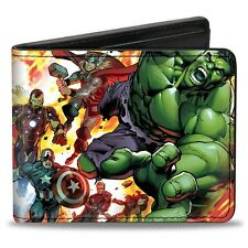Marvel Avengers Comic Book Bi-Fold Wallet Superhero Explosion (0004)