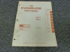 1967 Evinrude Fastwin 18HP Outboard Motor Shop Service Repair Technical Manual