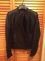 BCBG Max Azria Faux Leather Quilted Jacket- Size XSmall New With tags