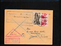 Franz. Zone-Baden 13 Briefe/Belege MiF mit 2x Nummer 8 als Einschreiben mit Nach