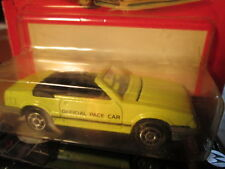 Majorette Yellow 1988 Ford Mustang XL Official Pace Car Convertible-DAMAGED CARD