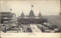 Coney Island NY Iron Pier c1905 Postcard