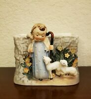 Napcoware Napco The Good Shepherd with Sheep Figurine Planter