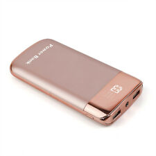 AU Portable 50000mah Power Bank 2usb LED LCD Universal Phone Battery Charger Rose Gold