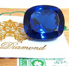 GIA Certified 62.60ct Natural Blue Cushion Cut Tanzanite Magnificent