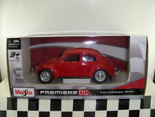 NEW MAISTO VW VOLKSWAGEN BEETLE 1/24 Scale PREMIERE DC SERIES