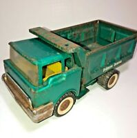 Vintage Structo Dumper Dump Truck Pressed Steel Metallic Green - Antique Toy