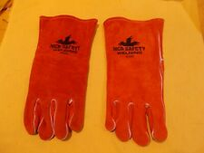 Leather Welding Gloves Mcr Safety Welder Protection Cowhide Size Large 4320