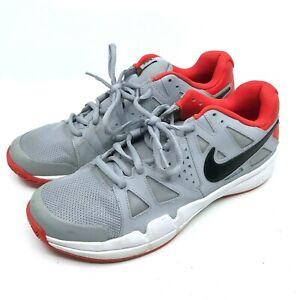 Nike Air Vapor Advantage Men's Orange/Gray/White Athletic size 11 Sneakers  [A5]