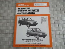 REVUE TECHNIQUE AUTOBIANCHI LANCIA Y10 et Y10 4WD  FIRE - FILA - TOURING - TURBO
