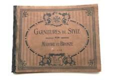HORLOGERIE CATALOGUE ANCIEN, GARNITURES DE STYLE HORLOGE, MARBRE ET BRONZE