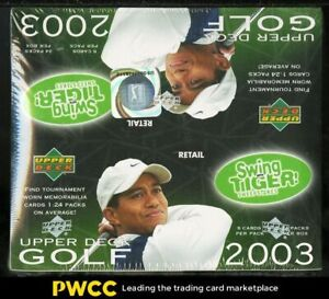 2003 Upper Deck Golf Factory Sealed Retail Box, 24ct Packs, Tiger Woods Auto?