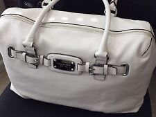 Michael Kors Hamilton Weekender. Color - Vanilla. 100% Genuine Leather.