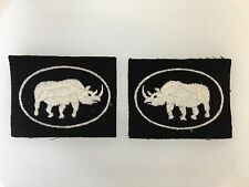 Vintage WWII British Army 2nd Armoured Brigade cloth sleeve formation patches