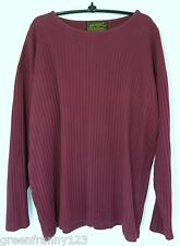 EDDIE BAUER Women's Size L Red Bergundy Long Sleeve Ribbed Base Crew Neck Shirt