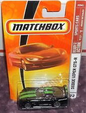 2009 Matchbox Sports Cars #22 Black Dodge Viper GTS-R Diecast 4+ Thailand Boys