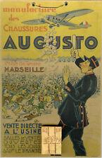 """CHAUSSURES AUGUSTO Marseille"" Carton-calendrier publicitaire original 1932"