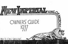(0777) 1936-1937 New Imperial Owners guide - All models