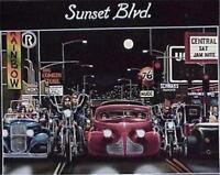 Sunset Blvd. David Mann   Art  Poster
