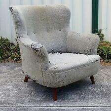 Vintage Pair Wingback Armchair Mid Century danish retro fler featherston mcm