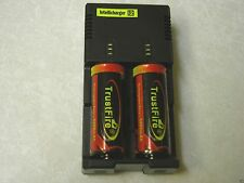 New Nitecore i2 Intellicharger Charger with 2 Trustfire 26650 5000mAh Batteries