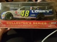 Jimmie Johnson #48 Nascar 2002 Lowes preview 2003 Diecast Car Scale 1/24