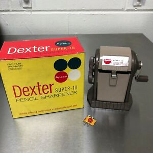 Unused vintage Dexter Super-10 pencil sharpener in box