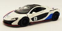 McLaren P1 - White - Kinsmart Pull Back & Go Metal Model Car