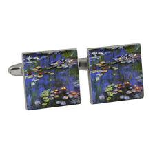 Famous Claude Monet Water Lilies Waterlilies Waterlily Painting Cufflinks BNIB