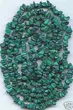 "Malachite Semi-Precious Stone Bead Chips-35"" Strand"