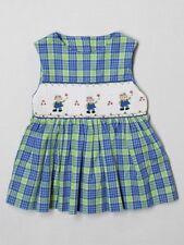 Toddler Girl Cupcake Originals Smocked Plaid Dress Swing Top Green 2T