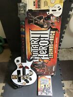 GUITAR HERO III LEGENDS OF ROCK (Wii) w/ STRAP, GAME & BOX - GREAT CONDITION!