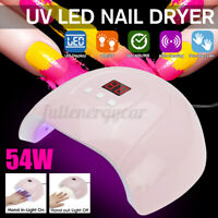 54W 18LEDs UV Nail Lamp Smart Sensing Gel Nails Polish Dryer Manicure