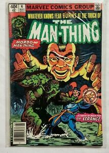 "Marvel Comics Group 1980 Issue #4 The Man-Thing ""A Choice of Doom For Dr Strange"