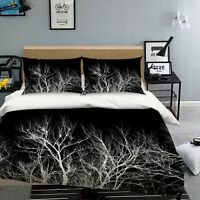 3D Tree Branches NAO2432 Bed Pillowcases Quilt Duvet Cover Set Queen King Fay