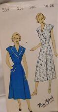1940's-50's Wrap Around Dress or Apron Vintage New York Pattern UNCUT FF Size 16