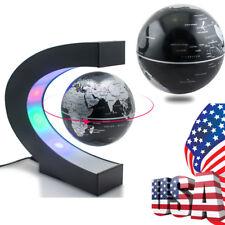 C Shape Magnetic Levitation Floating Globe World Map with LED Light Global Map