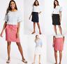 New Marks and Spencer Linen Rich Elasticated Waist Short A-Line Skirt, Size 6-20