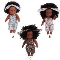 Black Girl Dolls African American Play Dolls Lifelike 12 inch Baby Play Dolls V