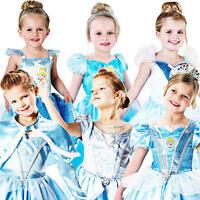 Cinderella Princess Girls Fancy Dress Childrens Kids Child Costume Disney Outfit