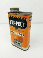 FYR-PRUF Stove & Nickel Polish 8 Fluid Ounces Vintage Tin